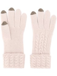 N.Peal Tipped Gloves Nude Neutrals