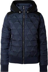 Fusalp Loria Hooded Quilted Ski Jacket Navy