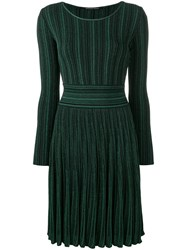 Antonino Valenti Glitter Ribbed Dress Green