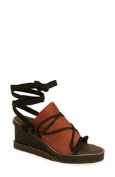 Women's Free People 'Bowery' Ankle Tie Wedge Sandal 2 3 4' Heel