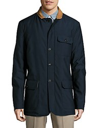 Bugatchi Solid Long Sleeve Jacket Blue