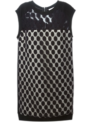 Cnc Costume National Costume National 'Panna' Dotted Sheer Dress Black