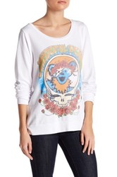 Lauren Moshi Long Sleeve Graphic Pullover White