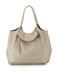Canotta Hippie Leather Shoulder Bag Cream Ivory Henry Beguelin