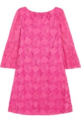 Badgley Mischka Cutout Lace Mini Dress Fuchsia