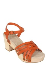 Restricted Cate Woven Sandal Orange