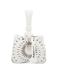 Alaia Rose Marie Small Bucket Bag White