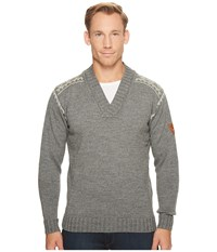 Dale Of Norway Alpina Masculine Sweater E Smoke Light Charcoal Men's Long Sleeve Pullover Gray