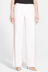 Classiques Entier 'Papyrus Weave' Wide Leg Trousers Regular And Petite White