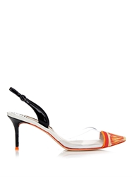 Sophia Webster Mimi Tangerine Point Toe Pumps