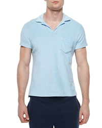 Orlebar Brown Terry Polo Shirt Sky Blue