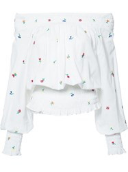 Suno Off The Shoulder Blouse White