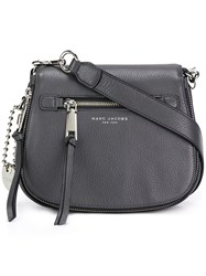 Marc Jacobs Small 'Recruit' Saddle Crossbody Bag Grey