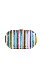 Santi Striped Sequin Clutch Multi