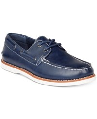 Unlisted By Kenneth Cole Men's Santon Boat Shoes Men's Shoes Navy