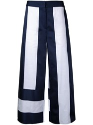 Goen.J Panel Cropped Palazzo Pants White