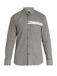 Givenchy Gingham Cotton Shirt Black