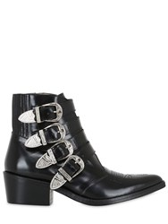 Toga Pulla 50Mm Buckle Up Leather Cowboy Boots