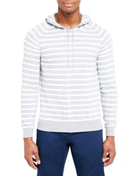 Slate And Stone Striped Hoodie Light Grey