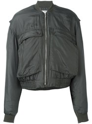 Katharine Hamnett Patch Pocket Bomber Jacket Green