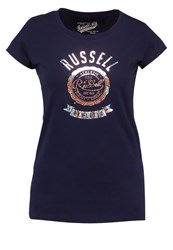 Russell Athletic Print Tshirt Blau Blue