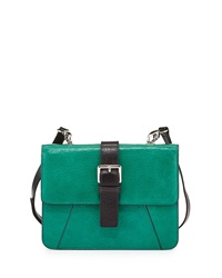 Charles Jourdan Vixen Flap Top Leather Crossbody Bag Teal