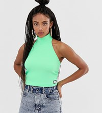 Reclaimed Vintage Inspired Halter Top Green