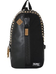 Supe Design Camo Printed Faux Leather Day Backpack