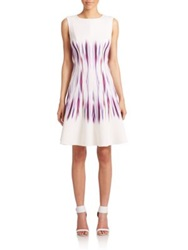 Teri Jon By Rickie Freeman Mirror Print Scuba Dress Multicolor