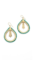 Aurelie Bidermann Tribal Drop Earrings Gold