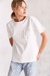 Bdg Frayed Pocket Tee White