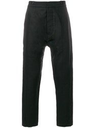 Tom Rebl Straight Leg Trousers Black
