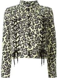 Sibling Leopard Print Jacket Yellow And Orange
