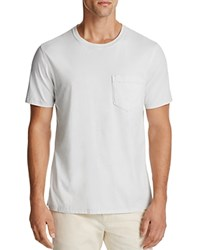 Billy Reid Washed Cotton Pocket Tee Pale Blue