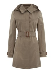 Lauren Ralph Lauren Hooded Raincoat Khaki