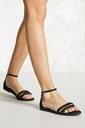 Forever 21 Braided Faux Suede Sandals