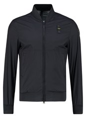 Blauer Bomber Jacket Blue Dark Blue
