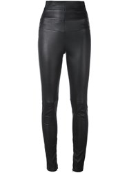 Philipp Plein High Waisted Trousers Black