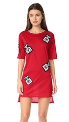 Michaela Buerger Oversize T Shirt Dress Red
