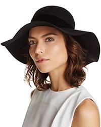 Aqua Velvet Trim Floppy Hat Black