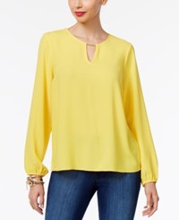 Thalia Sodi Pleated Hardware Blouse Only At Macy's Bumble Bee