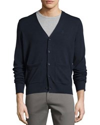 Original Penguin Long Sleeve Button Front Cardigan Blue