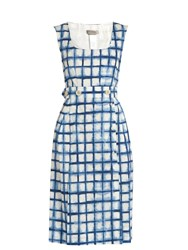 Sportmax Acciaio Dress Blue White