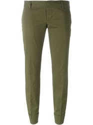 Dsquared2 Slim Cropped Trousers Green