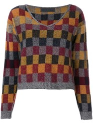 The Elder Statesman Checked Jumper Multicolour