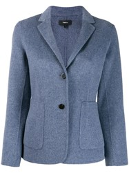 Theory Classic Fitted Blazer Blue