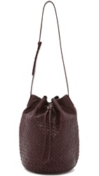 Christopher Kon Woven Bucket Bag Burgundy