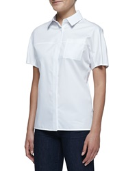 Jason Wu Short Sleeve Button Front Cotton Shirt 2