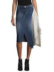 Each X Other Deconstruted Denim Skirt Light Blue