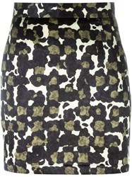 Dsquared2 Camouflage Print Mini Skirt Multicolour